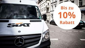 Sixt Transporter mit 10% Rabatt